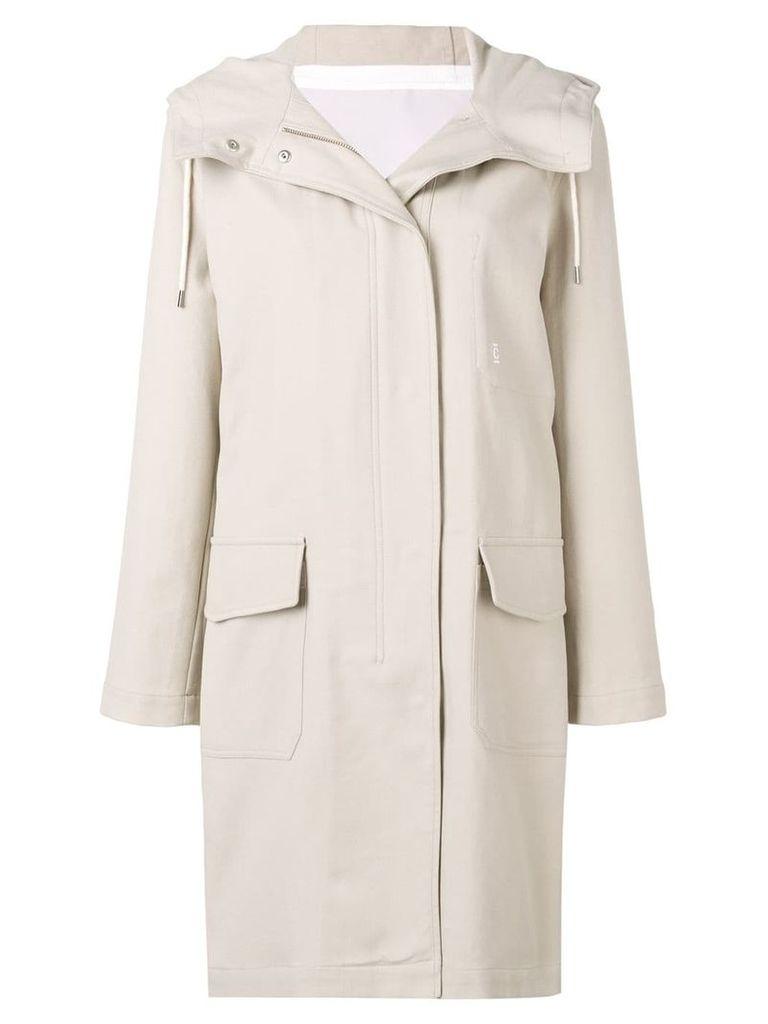 Closed hooded parka coat - Neutrals
