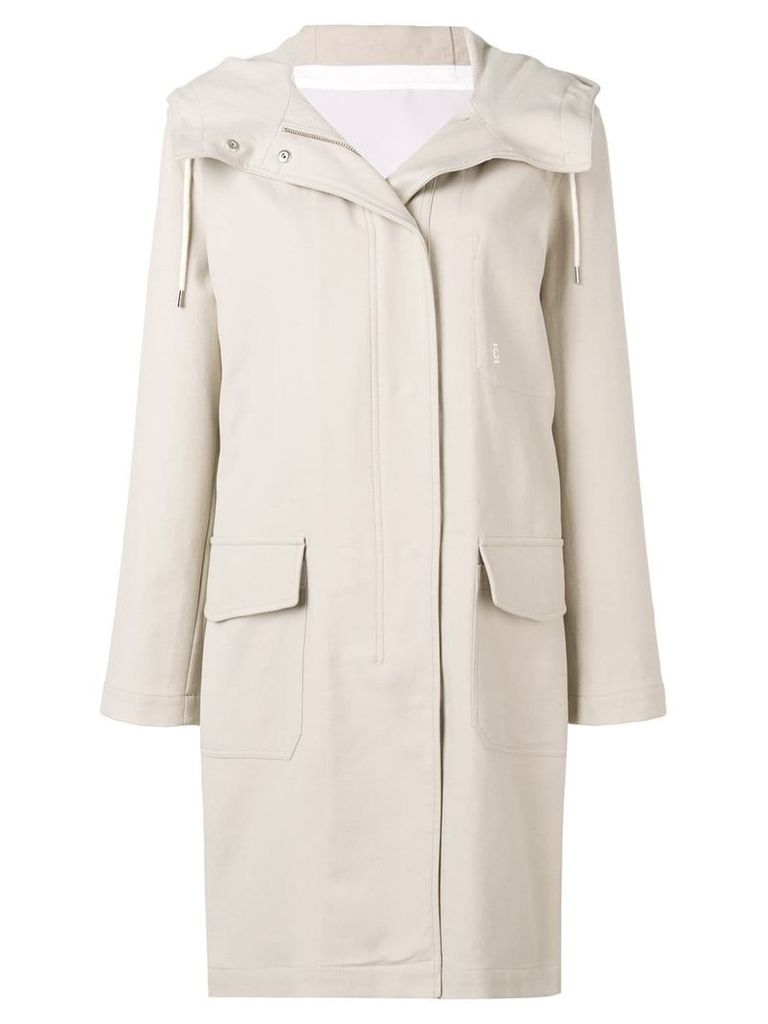 Closed hooded parka coat - Neutrals