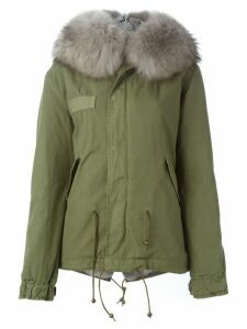 Mr & Mrs Italy trimmed hood parka - Green