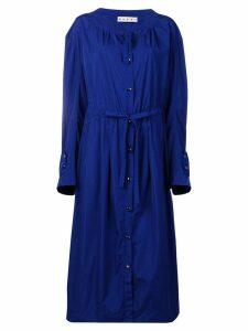 Marni drawstring parka coat - Blue