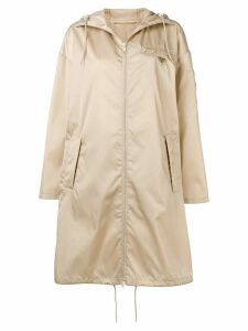 Prada logo raincoat - Neutrals