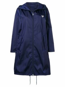 Prada logo raincoat - Blue