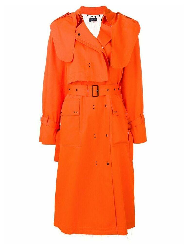 Eudon Choi belted trench coat - Orange
