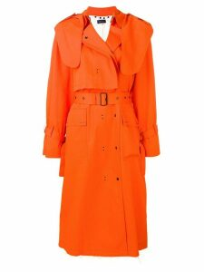 Eudon Choi belted trench coat - Orange