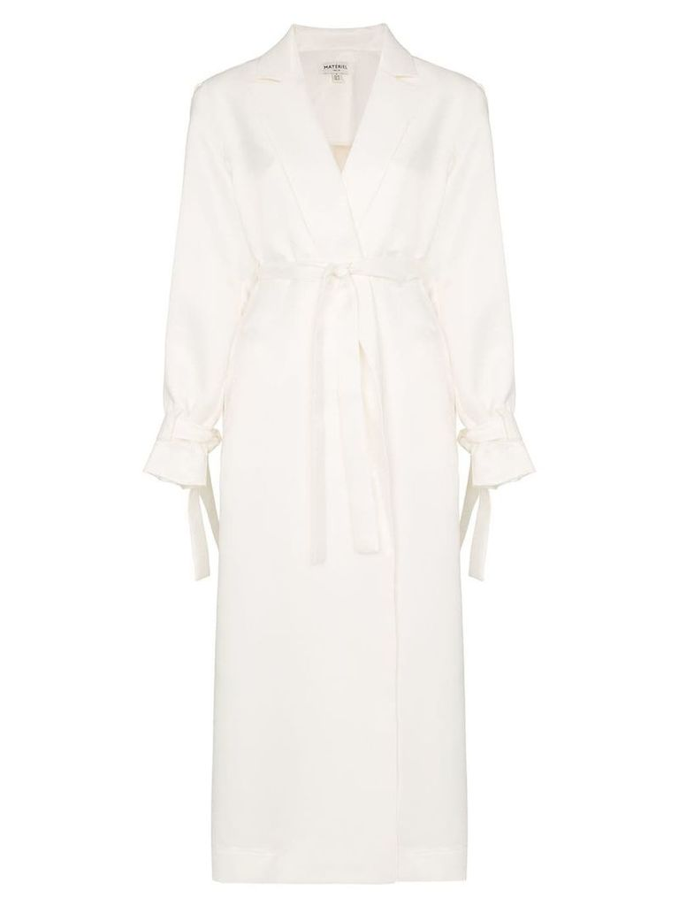 Matériel Pleated back trench coat - White