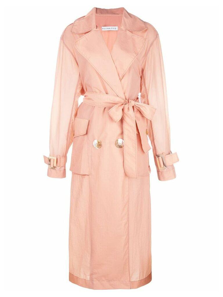 Rejina Pyo belted trench coat - Pink