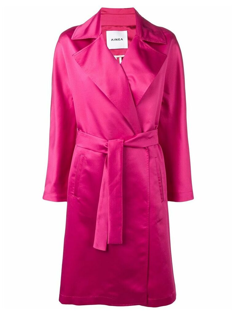 Ainea belted coat - Pink