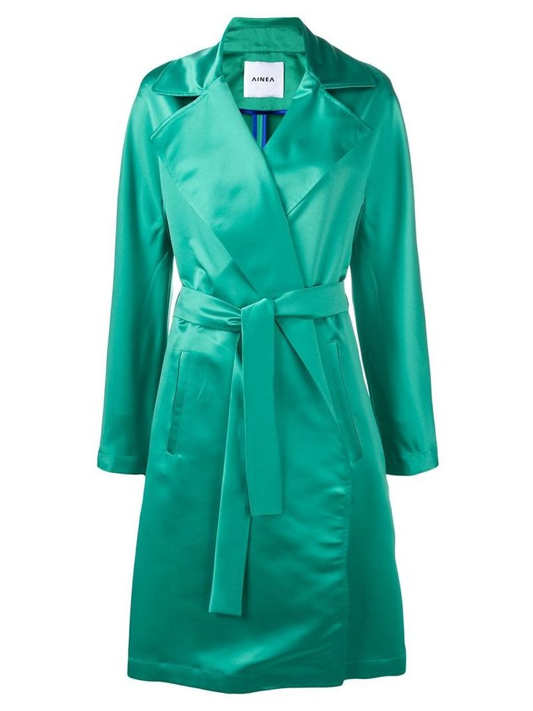 Ainea belted coat - Green