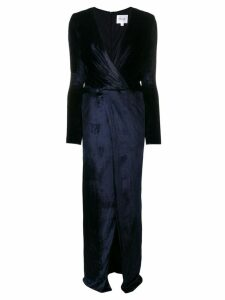 Galvan Vera velvet dress - Blue