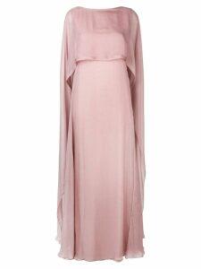 Irina Schrotter long sleeveless dress - Pink