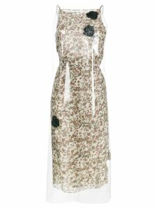 Calvin Klein 205W39nyc Floral Print midi dress with transparent