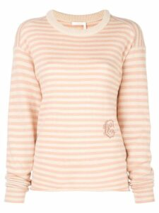 Chloé striped jumper - Pink