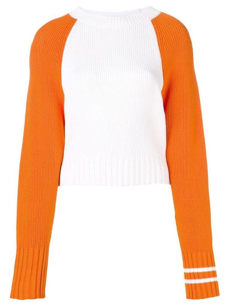 MRZ two-tone sweater - White
