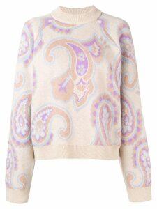 Nanushka paisley intarsia sweater - Neutrals