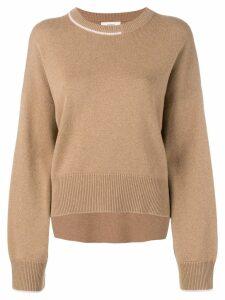 Pringle Of Scotland contrast cashmere jumper - Brown