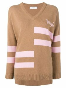 Pringle Of Scotland heritage logo cashmere jumper - Brown