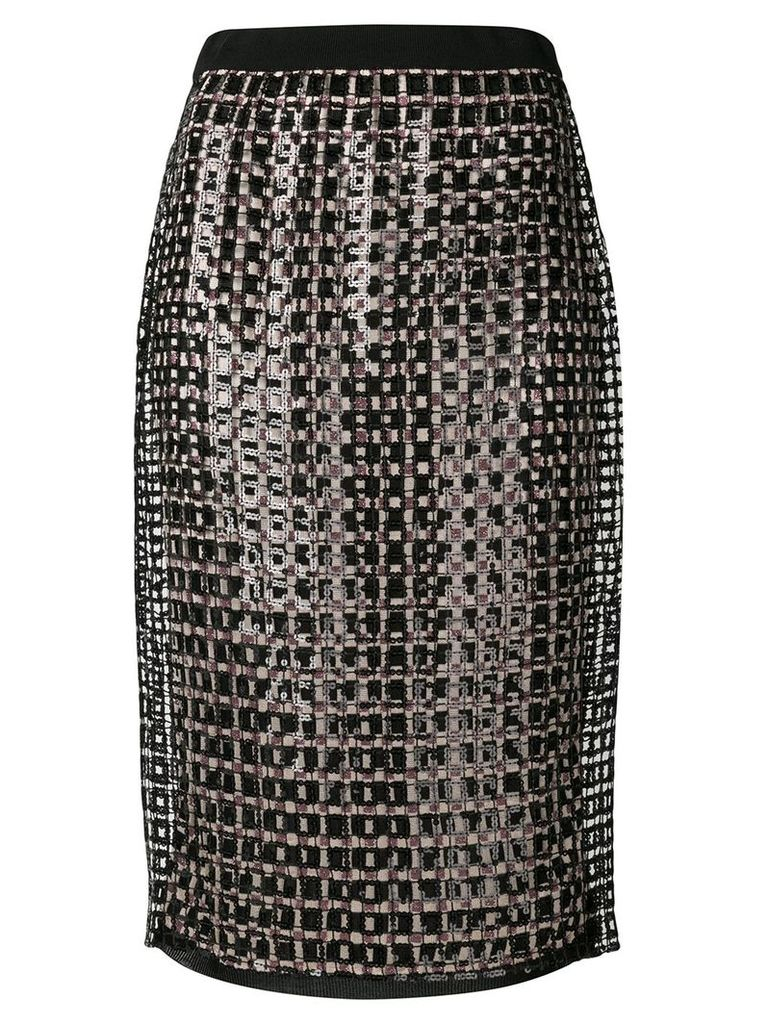 Marco De Vincenzo sequin pencil skirt - Black