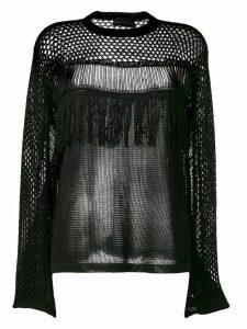 Diesel Black Gold openwork mesh knitted top