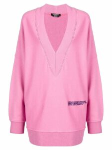 Calvin Klein 205W39nyc oversized v-neck sweatshirt - Pink