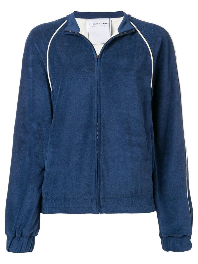 Philosophy Di Lorenzo Serafini embroidered logo zipped sweater - Blue