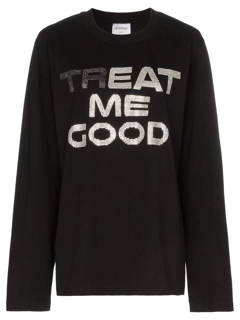 Ashish treat me good cotton sweatshirt - Black