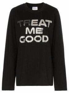 Ashish treat me good cotton sweatshirt - Black