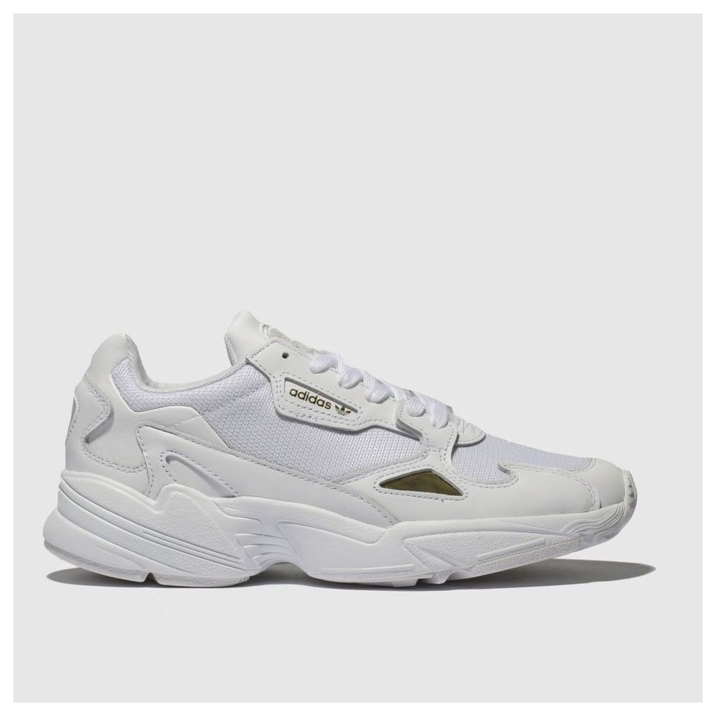 Adidas White & Gold Falcon Trainers