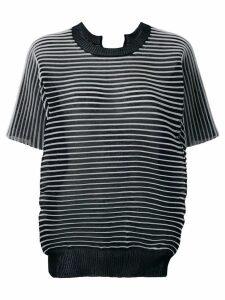 Junya Watanabe micro pleated T-shirt - Black