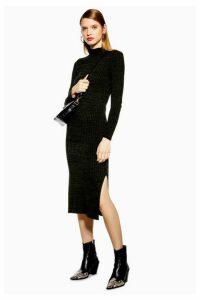 Womens Knitted Dress - Khaki, Khaki