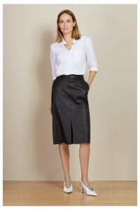 Womens Baukjen Caviar Black Flynn Leather Skirt -  Black