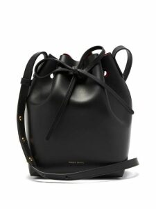 Mansur Gavriel - Red Lined Mini Leather Bucket Bag - Womens - Black Multi