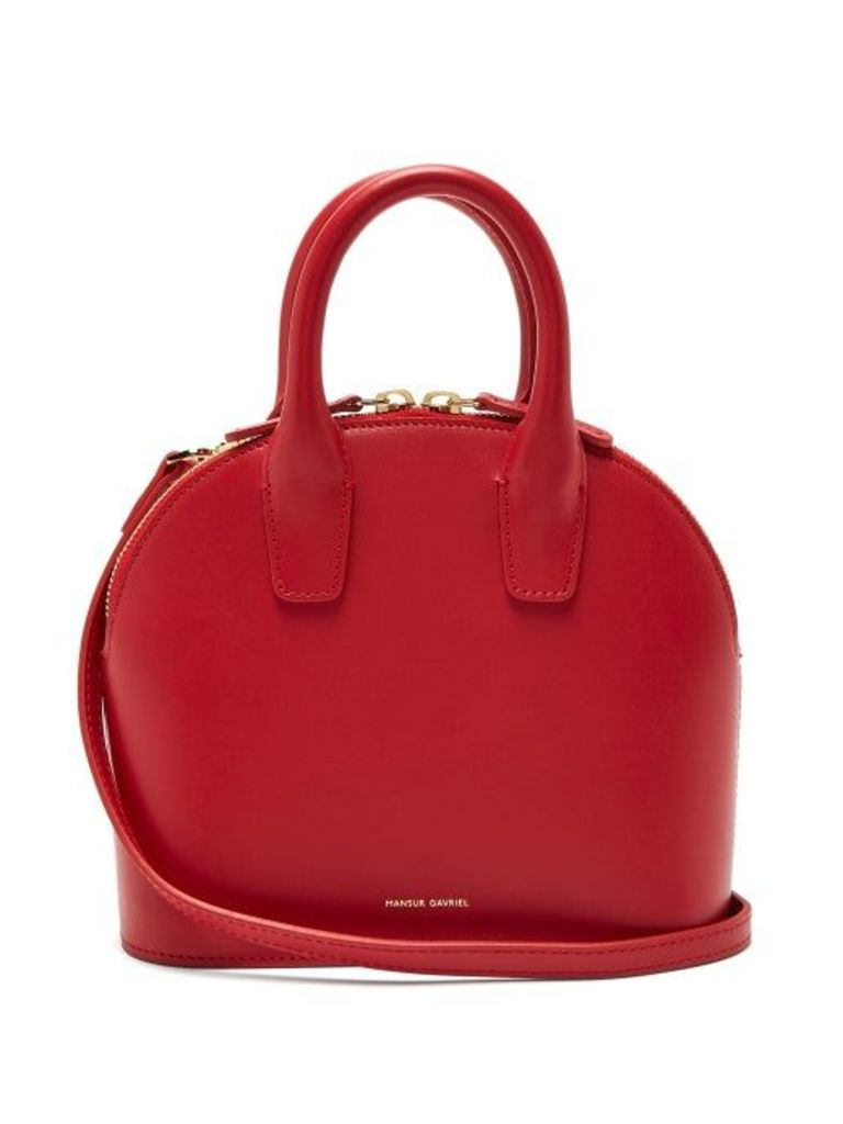Mansur Gavriel - Top Handle Mini Leather Bag - Womens - Red