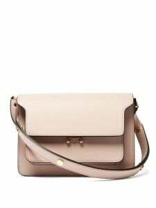 Marni - Trunk Medium Leather Shoulder Bag - Womens - Light Pink