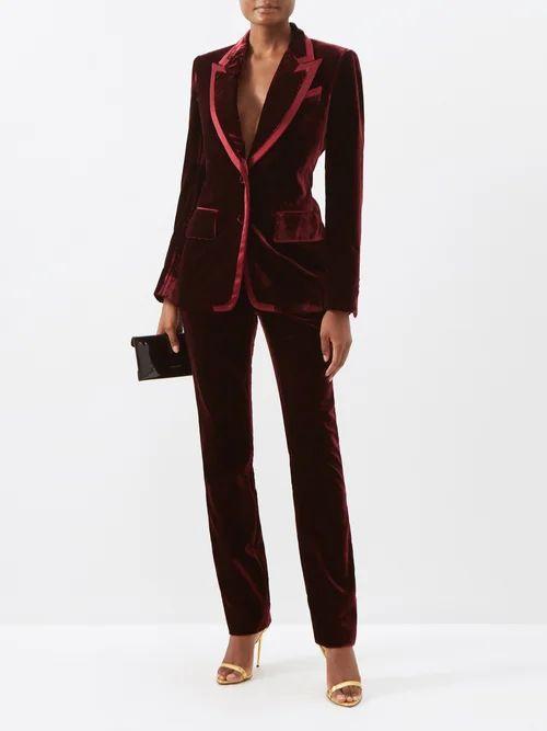Three Graces London - Arabella Shirred Cotton Voile Midi Dress - Womens - Green