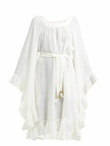 Lisa Marie Fernandez - Anita Bell Sleeve Linen Blend Dress - Womens - White