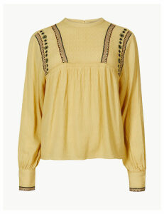 M&S Collection Embroidered Blouse