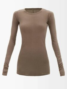 Calvin Klein 205w39nyc - Logo Embroidered Roll Neck Flared Wool Sweater - Womens - Dark Blue