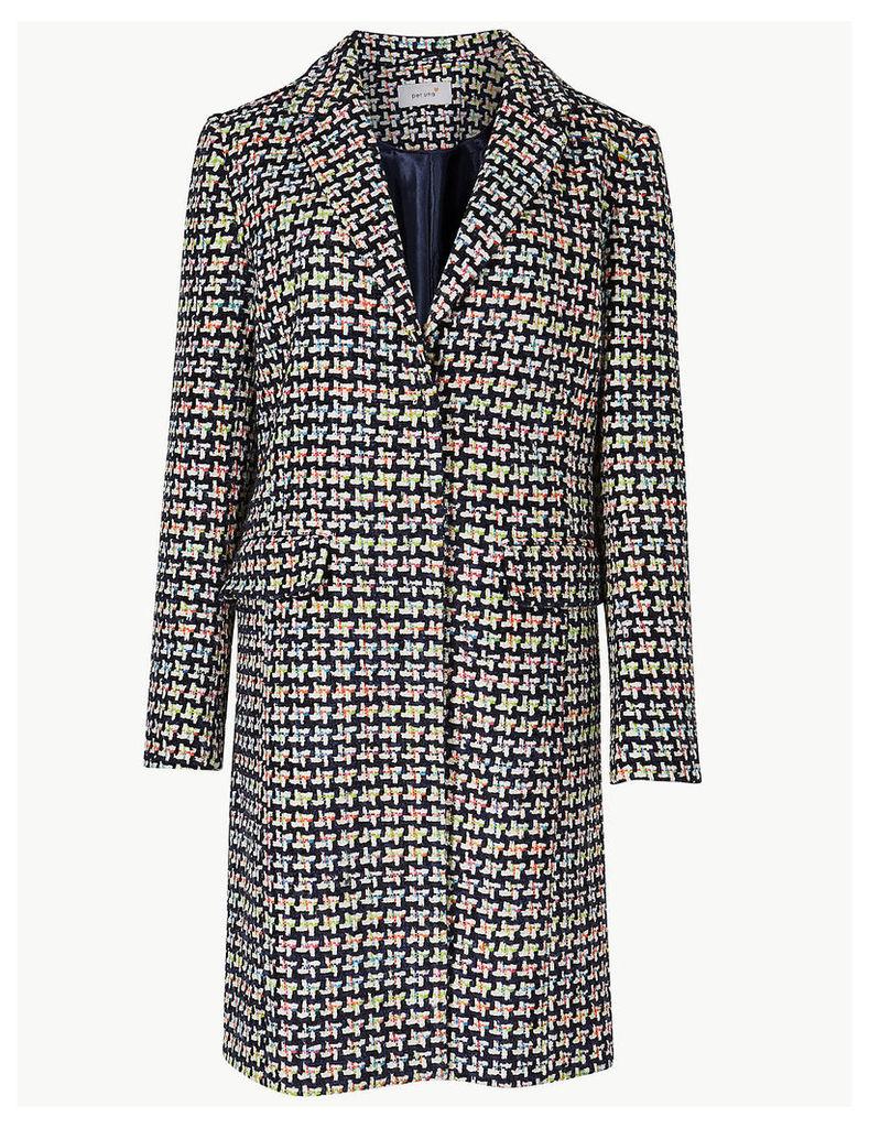 Per Una Jacquard Single Breasted Coat