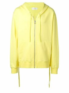 Faith Connexion oversized zip front hoodie - Yellow