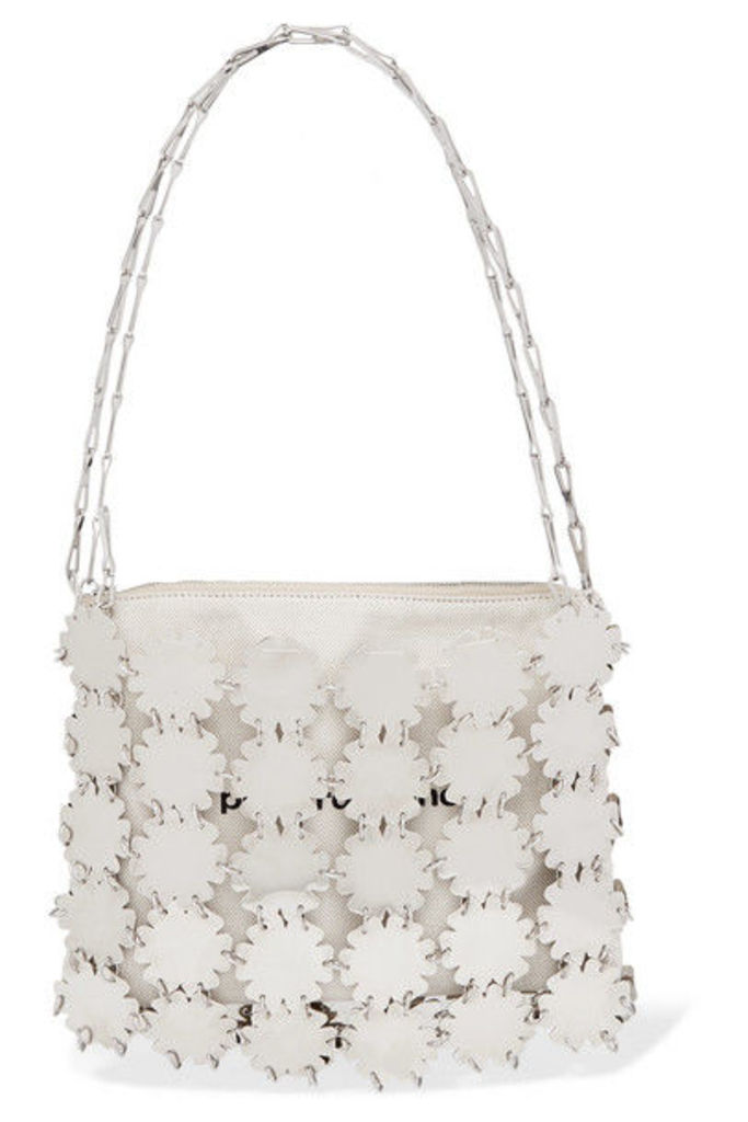 Paco Rabanne - Blossom 1969 Chainmail And Canvas Shoulder Bag - Silver