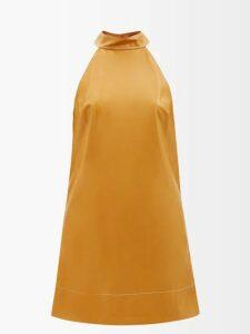 Norma Kamali - Underwire Stretch Jersey Mini Dress - Womens - Red