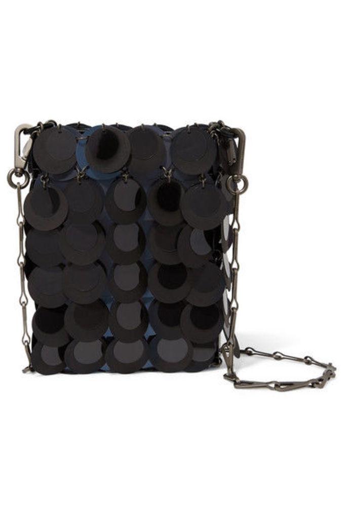 Paco Rabanne - Sparkle 1969 Mini Sequined Faux Leather Shoulder Bag - Black