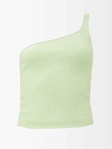 Bottega Veneta - Single Breasted Mohair And Wool Blend Blazer - Womens - Dark Green
