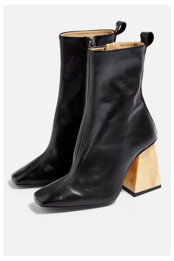 Womens Habbs High Ankle Boots - Black, Black