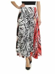 MSGM Asymmetric Pleated Skirt