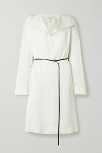 MM6 Maison Margiela - Cutout Checked Cotton-blend Blazer - Gray