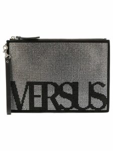 Versus logo studded clutch - Black