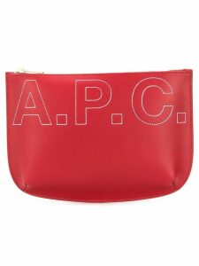 A.P.C. logo embroidered clutch