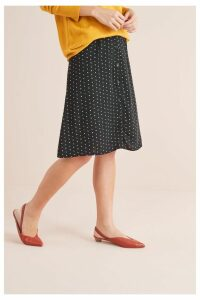 Womens Next Black Button Through Skirt -  Black