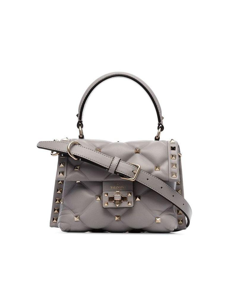 Valentino Garavani grey Candystud quilted leather mini bag